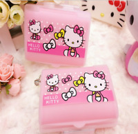 3 pcs Cute Pink Bow Hello Kitty Pill Box Organizer Medicine Vitamin Storage Case