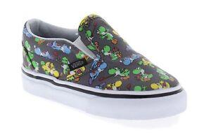 Vans Toddler Classic Slip-On Nintendo Yoshi Pewter Youth Shoes VN000ZCRk5B T 4.0