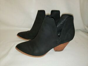 FRYE Women's Black Leather Reina Cut Out Western Booties Ankle Boots Size 7.5 M