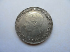 """1896 Puerto Rico 40 Centavos (Cents) Coin (-AU) on Silver  """" A Nice Scarce One """""""