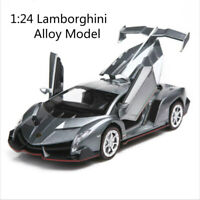 1:24 Lamborghini Poison Veneno Alloy Model Collectible Toy Two Doors Can Open