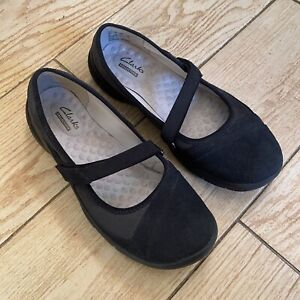 PRIVO By Clarks FLATS SIZE 7.0 WOMENS Black Hook And Loop Strap