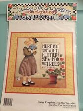 VTG 1990 Daisy Kingdom Iron-on Transfer Hurt Not The Earth 6556 Mary Engelbreit