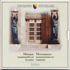 BOSNIA & HERZEGOVINA KMS MINT SET 5 COINS 10 - 50 FENINGA, 1 + 2 KM BIMETAL 2000