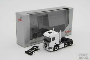 Herpa Scania CR ND Tractor 3axis with Pipes white unprinted 580472 /HS73