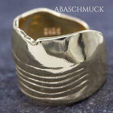 Silberring Silber 925 Ring Verstellbar Offen Bandring vergoldet R940 modern