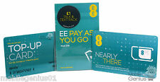EE Pay As You Go SIM Nano/Micro/Standard for PAYG 4G £1 Talk Pack