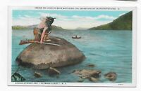 Vintage Postcard* OTSEGO LAKE*  Glimmer Glass*  Leatherstocking* COOPERSTOWN NY