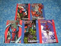5 Ultimate Spider-man Graphic Novel Set Lot Softcover TPB Volume 1 2 3 4 5 VG