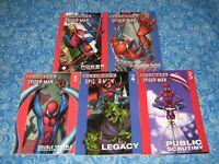 5 Ultimate Spider-man Graphic Novel Set Lot Softcover TPB Volume 1 2 3 4 5 VG