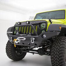 Full Width Rock Crawler Front Bumper+Winch Plate fit 07-18 Jeep JK Wrangler