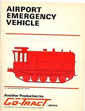 Sales Brochure For Go-Tract Airport Emergency Vehicle 1967 Harrisburg State Airp