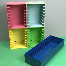 Vintage Add n Stac Cassette Tape Storage Bins Lot of 5 Organizer Trays Connect