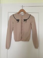 NWT RED VALENTINO Pink Beige Bow CARDIGAN XS $595