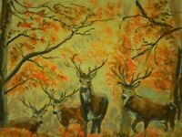 DEER PAINTING  WILDLIFE PAINTING  Hunting