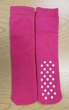 Ladies 1 Pair Plain Pink Slipper Socks with Dot Non Slip Sole