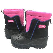 Totes Boot Toddler Girl Kid Sz 12M Zip Closure Snow Boot Pink Black - No inserts