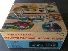 Realistic Pro 2020 Radio Scanner UHF VHF AM-FM 20 channels W/Memory original box