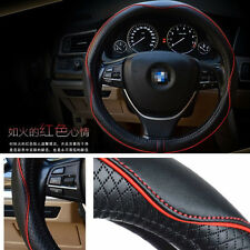Comfort & Durability 15 inch Universal Genuine Leather Car Steering Wheel Cover