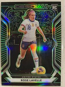 Rose Lavelle 2020-21 Panini Obsidian Electric Etch Green Rookie #/25 SP USA RC