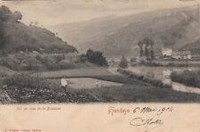 HENDAYE sur les rives de la bidassoa éd villatte timbrée 1904