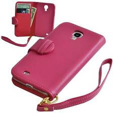 Pink PU Leather Wallet Case for Samsung Galaxy S4 SIV i9500 - NEW