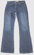 ROXY Juniors sz 7 JR 100%Cotton Blue Jeans Womens Creased Classic Rise Boot Cut
