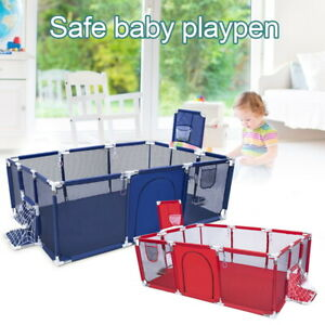 Baby Playpen Child Play Mat Interactive Safety Gate Slide Fence Game 12 Panels