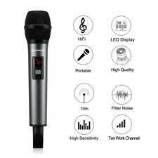 10CH Kabellos Bluetooth Karaoke Mikrofone Lautsprecher APP für Bar KTV Party DE