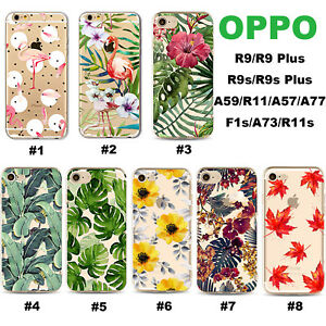 For OPPO AX7 5 3s FindX R17 15 11 9s F1S A57 73 77 Flower Pattern TPU Phone Case