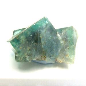 Green Fluorite Crystal Twinned Zoned 14mm Heights Quarry Weardale UK Specimen