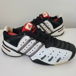 ADIDAS Barricade V Tennis Shoes Black White Red 2009 #668325 Men's Size 11