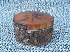 Antica scatola gioiello legno déco chalet insetto arte pop Savoia francese