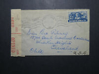 South Africa 1942 Censor Cover to USA (III) - Z12025