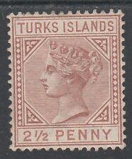 TURKS ISLANDS 1882 QV 21/2D BROWN