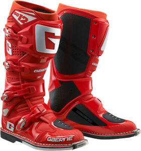 Gaerne - SG-12 SG12 Red Men Size 12 MX Off Road Dirt Moto Boots  - 2174-085-12