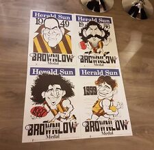 WEG POSTER SET HAWTHORN HAWKS X 4 1949 ~ 1999 BROWNLOW WEG SET ALL SAME NUMBER