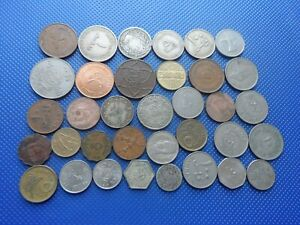 36  ARABIC COINS MIDDLE EAST.