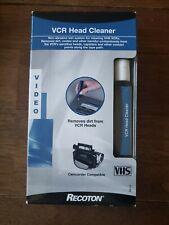 Recoton VHS VCR Video Cassette Tape Head Cleaner v144 wet non abrasive new