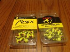 2 - Apex Tackle Round Head Jig Model: RH18-3-10 1/8 oz White