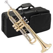 Trompete Bb Messing Blasinstrument Anfänger Trompeten Trumpet im Koffer
