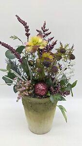 Wintergesteck Winterdekoration Weihnachtsgesteck Blumenarrangement Christrose...