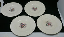 4 OLD WEDGWOOD PATRICIAN DESSERT PLATES, SWANSEA PATTERN, 8.5 INCHES, FLOWERS