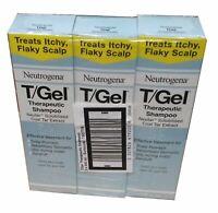 3 x 250ml TGEL T/GEL THERAPUTIC SHAMPOO  NEUTROGENA T GEL Itchy Scalp Treatment