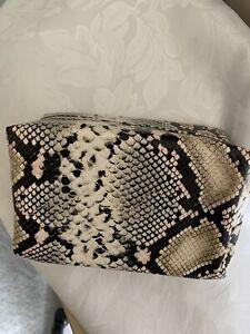 TARTE~~MAKE UP BAG~~snakeskin print--NEW IN SEALED BAG