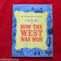 1963 Hardcover How The West Was Won Movie Program MGM  EUC