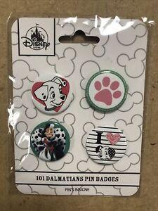 New Disney Store 101 Dalmatians Pin Badges X 4  Brand New
