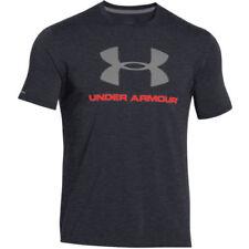 Camisetas de hombre de manga corta negra Under armour
