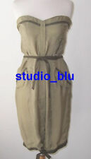 CNC COSTUME NATIONAL Olive Green Strapless Cargo Dress 44 8