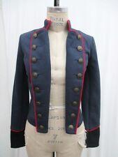 M New ANTHROPOLOGIE Women's Military Insp Navy Knit Cotton Jacket Coat MEDIUM
